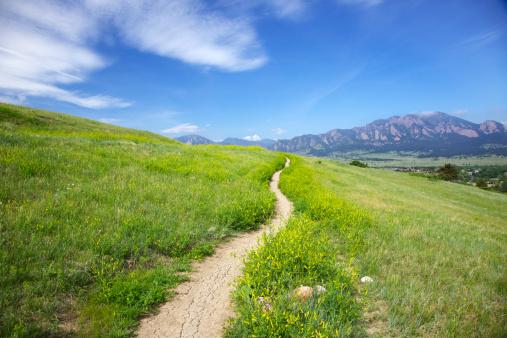 Footpath「Trail to the Flatirons in Boulder Colorado」:スマホ壁紙(12)