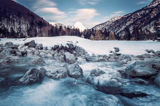Stream - Body of Water「winter landscape」:スマホ壁紙(19)