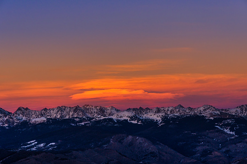 ゴア山地「Gore Range Mountain Sunset Winter Vail Colorado」:スマホ壁紙(16)