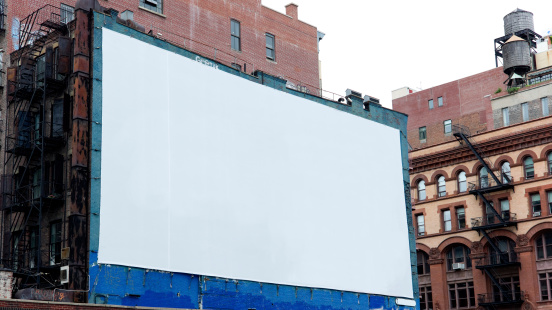 Commercial Sign「Advertising Billboard  Space in Manhattan New York」:スマホ壁紙(8)
