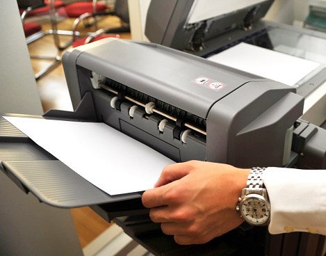 Photocopier「fax copier with copyspace on paper sheet」:スマホ壁紙(5)