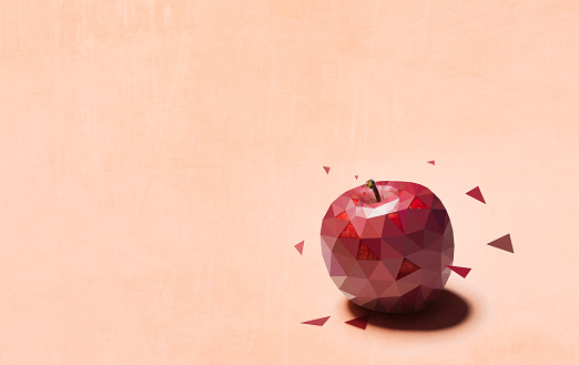 Digital Composite「Polygon of Apple」:スマホ壁紙(19)