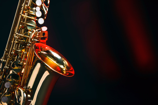 Rock Music「Saxophone with copy space」:スマホ壁紙(16)