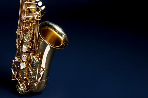 Rock Music「Saxophone with copy space」:スマホ壁紙(3)