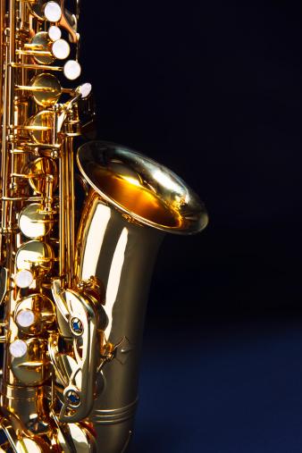 Rock Music「Saxophone with copy space」:スマホ壁紙(11)