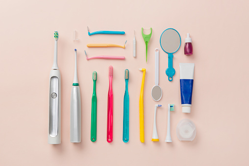Hand Mirror「Dental item knolling style」:スマホ壁紙(10)