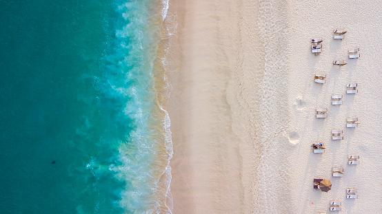 自然の景観「Aerial beach view」:スマホ壁紙(7)