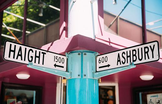 San Francisco - California「USA, San Francisco Haight and Ashbury streets intersection」:スマホ壁紙(2)