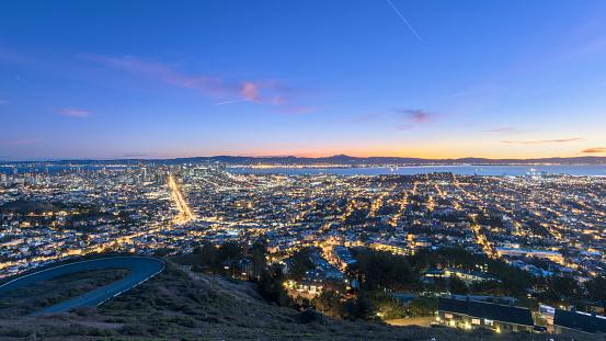 USA「San Francisco cityscape in sunrse」:スマホ壁紙(10)