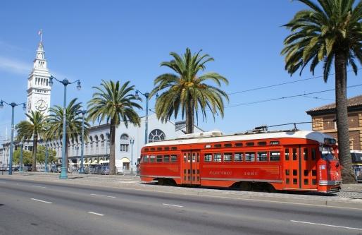 Pier「San Francisco - Ferry Building and Trolley」:スマホ壁紙(15)