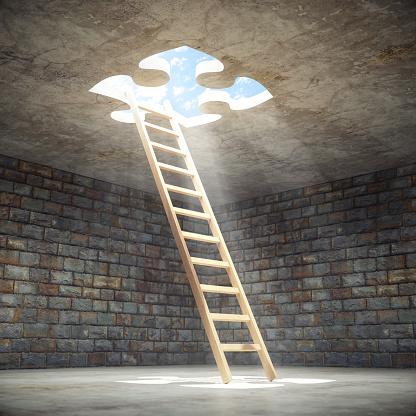 Image「Ladder Leading Up To The Light」:スマホ壁紙(3)
