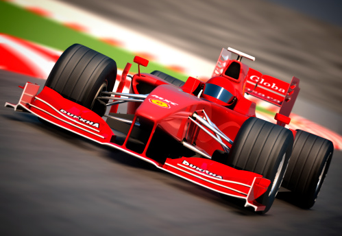 Motorsport「F1 car on racetrack, clipping path included」:スマホ壁紙(19)