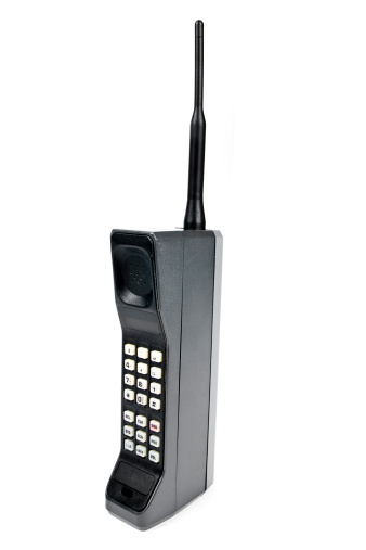 1980-1989「A cartoon image of a large cell phone」:スマホ壁紙(14)