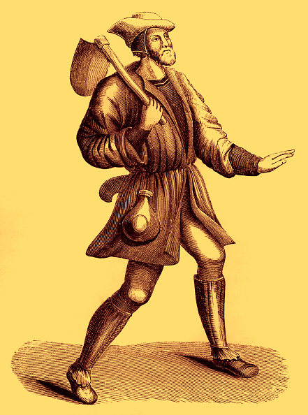 Circa 15th Century「Costume of a villein or peasant, 15th century」:写真・画像(16)[壁紙.com]