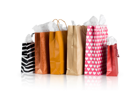Christmas Paper「Shopping Bags w/clipping path」:スマホ壁紙(19)