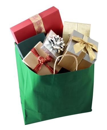 Christmas Paper「Shopping bag full of gifts」:スマホ壁紙(2)
