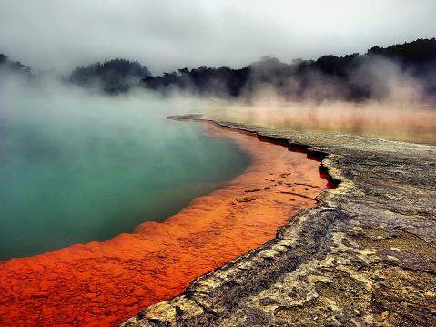 Volcano「Champagne pool Waiotapu」:スマホ壁紙(1)