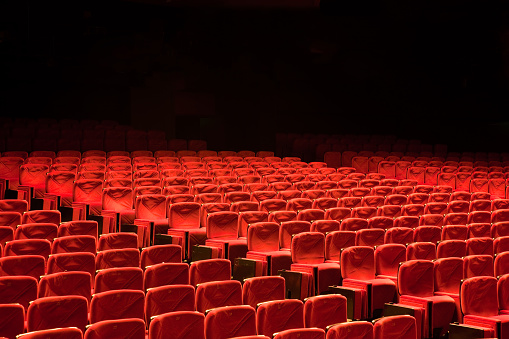 Convention Center「Red Seat Rows in Auditorium Movie Theater Seats」:スマホ壁紙(8)