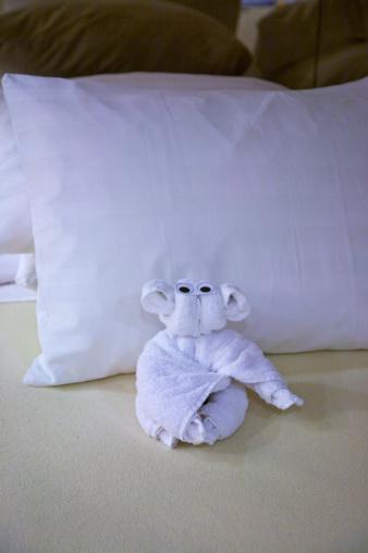 Passenger Cabin「Towel animal on bed, Holland America Line's Westerdam, February 2010」:スマホ壁紙(16)