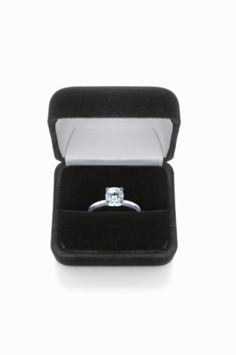 Velvet「Diamond ring in box, against white background, close-up」:スマホ壁紙(12)