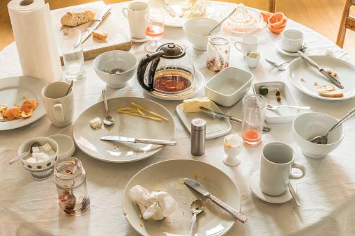 Breakfast「Messy dining table after breakfast」:スマホ壁紙(13)