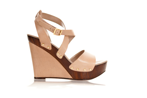 Ankle Strap Shoe「Fancy high heels in fashionable wedge style」:スマホ壁紙(4)