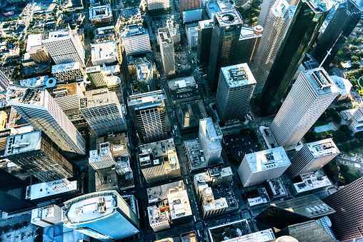 North America「City Streets of Houston, Texas from Above」:スマホ壁紙(5)