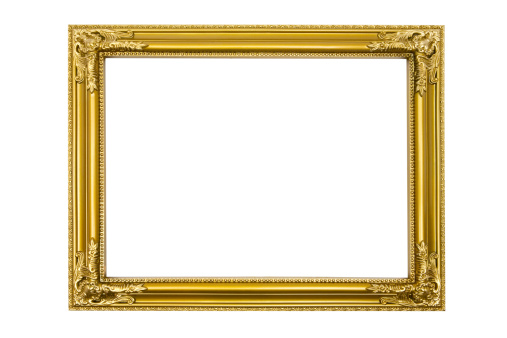Gold「Golden Picture Frame (Clipping Path Included)」:スマホ壁紙(19)
