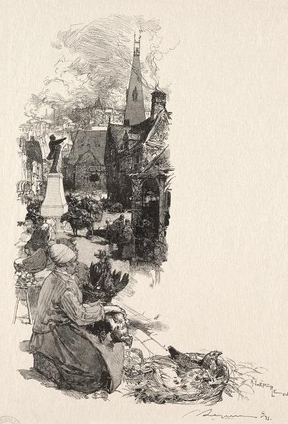 1900「Statue Dun Grand Homme. Creator: Auguste Louis Lepère (French」:写真・画像(15)[壁紙.com]
