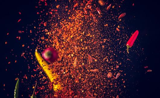 Pepper - Seasoning「Chili Spice Mix Food Explosion」:スマホ壁紙(14)