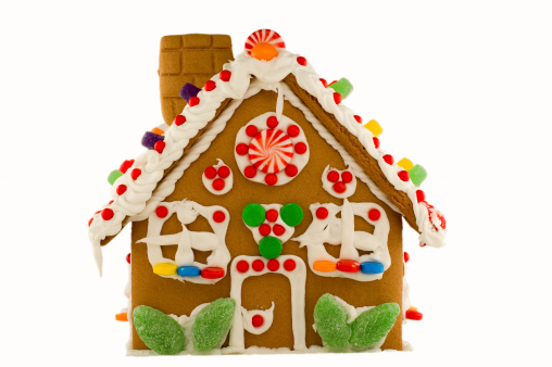 Gingerbread Cookie「Christmas Gingerbread House - Isolated」:スマホ壁紙(17)