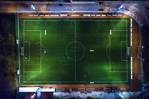 Sports Training「Soccer field at night - aerial view」:スマホ壁紙(12)