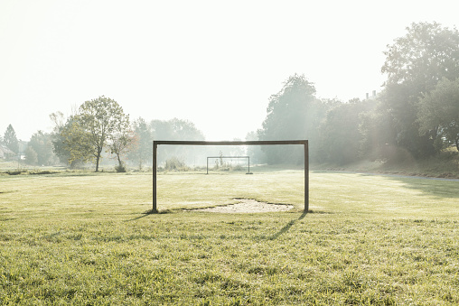 Agricultural Field「soccer field in dawn」:スマホ壁紙(1)