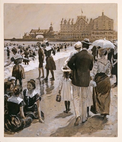 1900「Beach Scene From Harpers Weekly」:写真・画像(13)[壁紙.com]