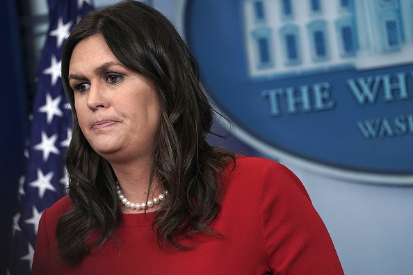 James Brady Press Briefing Room「Press Secretary Sarah Huckabee Sanders Holds Daily Briefing At The White House」:写真・画像(11)[壁紙.com]