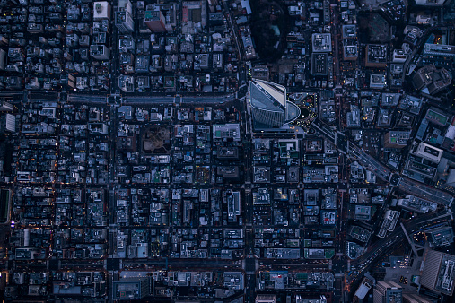 Tokyo - Japan「Aerial photography of Toranomon,Tokyo」:スマホ壁紙(5)