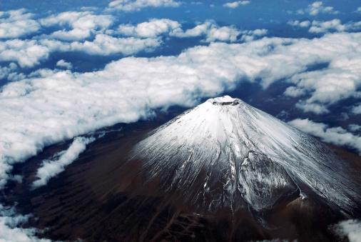 富士山「富士山の空中写真」:スマホ壁紙(14)