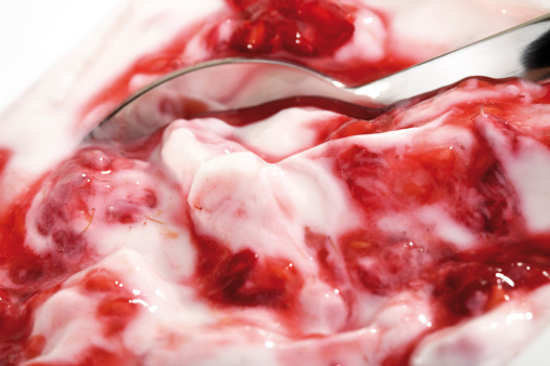 Enjoyment「Raspberry cream, close-up」:スマホ壁紙(12)