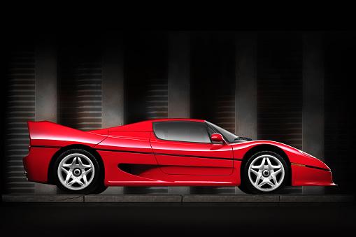 Sports Car「Side view of shiny red sports car」:スマホ壁紙(14)