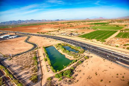 Plowed Field「Agricultural Region in Phoenix Arizona」:スマホ壁紙(5)