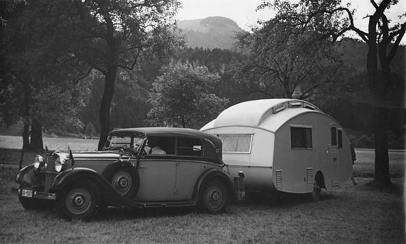 Recreational Pursuit「1937 Mercedes Benz 260D Cabriolet Towing Caravan. Creator: Unknown.」:写真・画像(6)[壁紙.com]