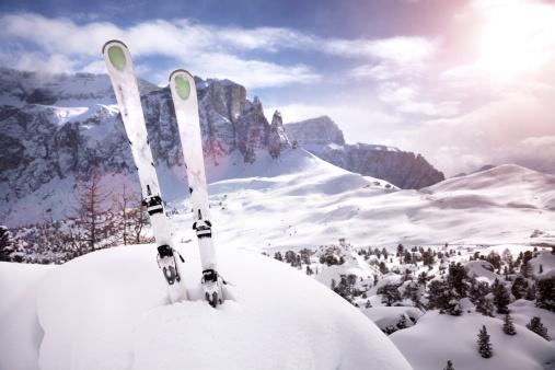 Ski Slope「Mountain ski sunset」:スマホ壁紙(10)