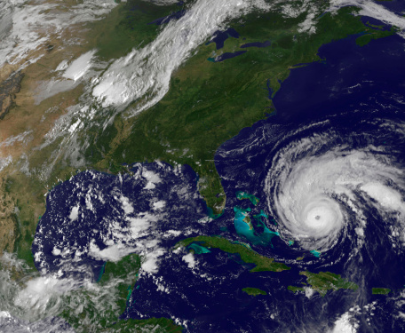 Extreme Weather「September 1, 2010 - Satellite view of Hurricane Earl and the United States East Coast」:スマホ壁紙(4)