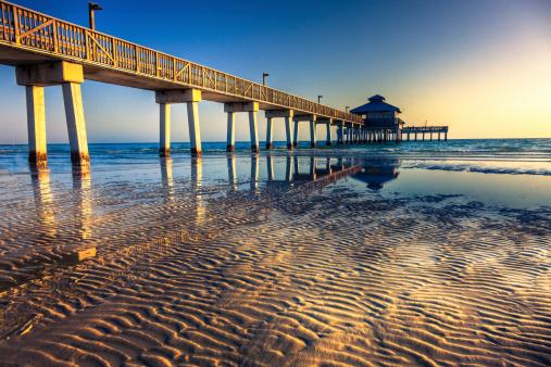 Gulf Coast States「Fort Myers Beach Pier」:スマホ壁紙(7)