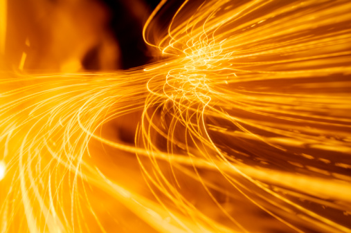 Orange Color「Abstract fire and light trails and effects」:スマホ壁紙(9)