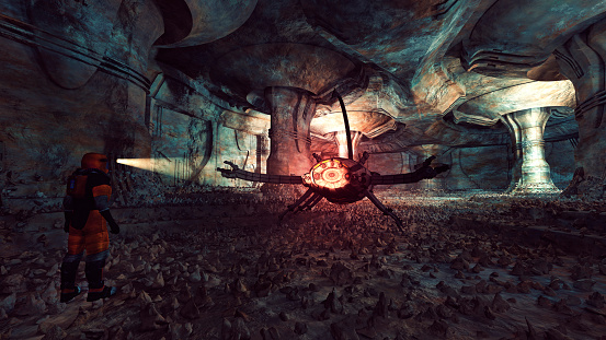 Cave「Ancient Martian alien artefacts, scorpion, danger, animal」:スマホ壁紙(15)