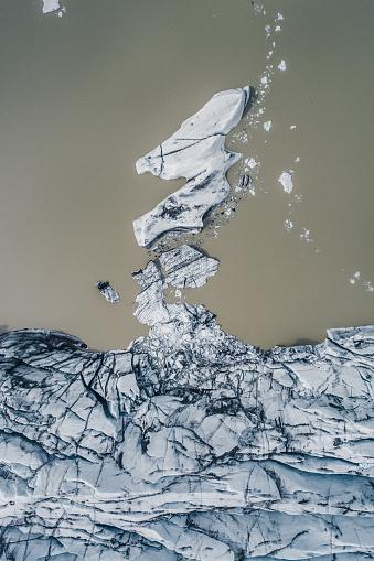 Volcanic Landscape「Drone perspective over glacier, Iceland」:スマホ壁紙(2)