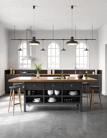 Faucet「Industrial kitchen interior」:スマホ壁紙(15)