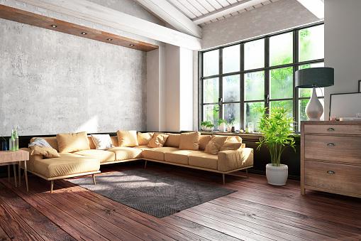 Dirty「Industrial Style Loft Apartment」:スマホ壁紙(18)