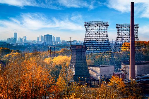North Rhine Westphalia「Industrial autumn landscape in the Ruhr, Essen, Germany」:スマホ壁紙(15)